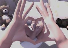 My tiniest Valentine (Jacee Baby) Tags: bento hands baby secondlife sl mesh black bantam infant pose tuty boogers jian pugs dogs sleeping avatar