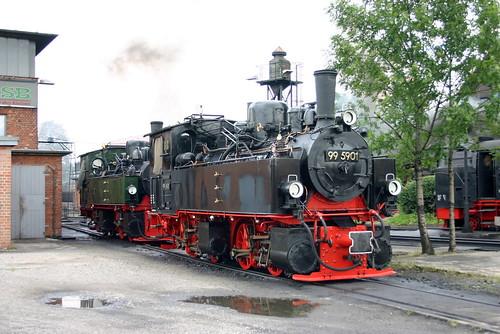 HSB: 99 5901 und 99 5902 im Bw Wernigerode