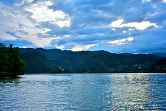 Lake Bled, Slovenia (fabujulous) Tags: trip blue sky white lake snow alps water weather clouds spring swan europe cloudy slovenia bled jezero