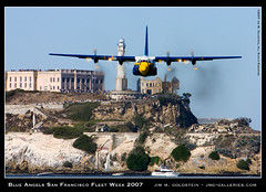 Blue Angels San Francisco Fleet Week 2007 - Fat Albert Approach (jimgoldstein) Tags: sanfrancisco california plane navy jet f18 blueangels fleetweek fa18 jmggalleries jimmgoldstein week2007