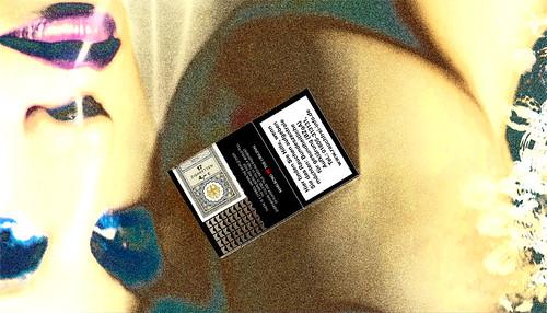 Rauchen aufgeben  Cigarettes in German picture photo bild