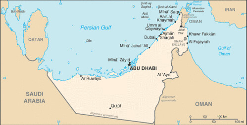 carte emirats arabes unis