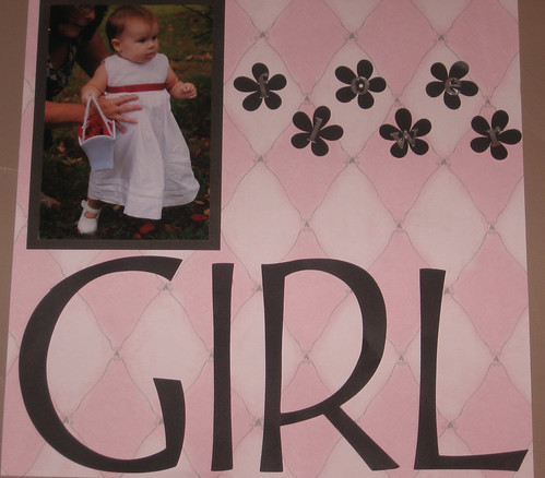 oriona's wedding scrapbook-flower girl