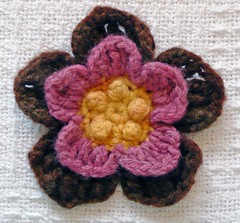 Yellow, Pink, Brown Flower