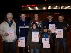 Prie sporto centro Tartu mieste iš kairės D.Tumas, M.Vaitkevičius, A.Kasteckas, A.Tipšas, L.Lingys, R.Diburys ir D.Kasteckas.