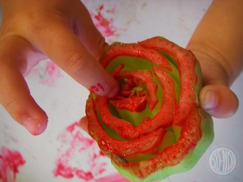 a bok choy rose
