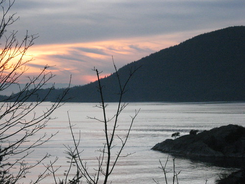 Sunset Over Bowen Island