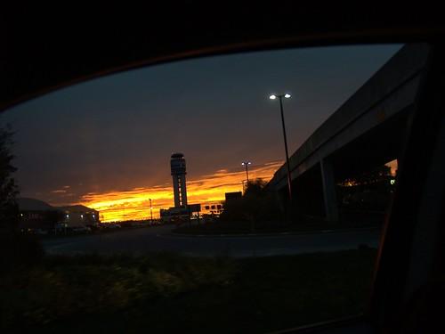Sunset at Columbus, Ohio Airport