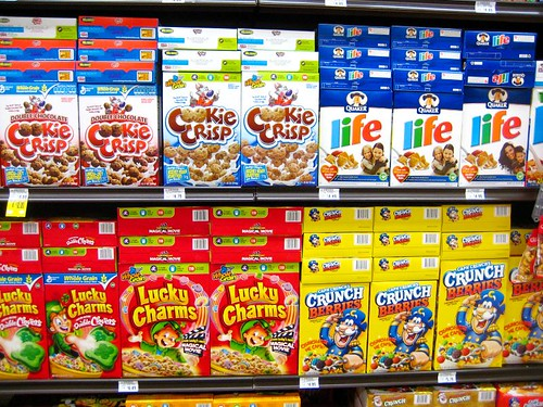 Cereal aisle at Ralph's