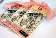 Vintage Valentine Tags......... (fleamarketstudio) Tags: art collage vintage scrapbooking tags collageart valentines crafty valentinesday alteredart shabbychic mixedmediaart valentinesdaytag