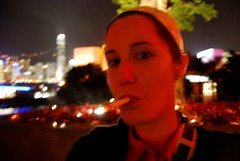 Outside (Sarah_Ackerman) Tags: china festive hongkong hotel asia smoking newyearseve newyears kowloon intercontinental