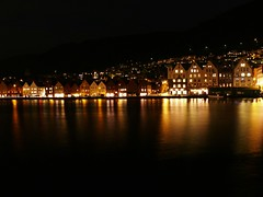 """Bryggen"" Bergen - Norway (Motive - / - Roy M.) Tags: sea norway night nightshot january any motive bergen 2008 bryggen 08 zazzle blueribbonwinner otw allrightsreserved nightstars abigfave anawesomeshot theperfectphotographer roymichelsen beautifulandmagical httpwwwzazzlecomneslehcim motive4u2see"