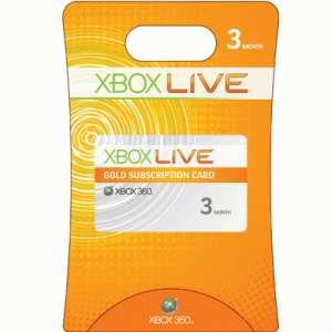 Xbox LIVE Gold 3 & 12 Mon
