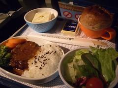 夕食@Air New Zealand