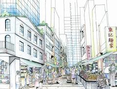 WCC scheme - upgraded market streets國際都會委員會方案 - 提升市集_WCC market renderings