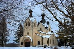 St. Sava Serbian Orthodox Monastery Church (newagecrap) Tags: winter illinois scenic churches libertyville lakecounty snowscapes serbiankingpeterii stsavamonastery newagecrapphotography