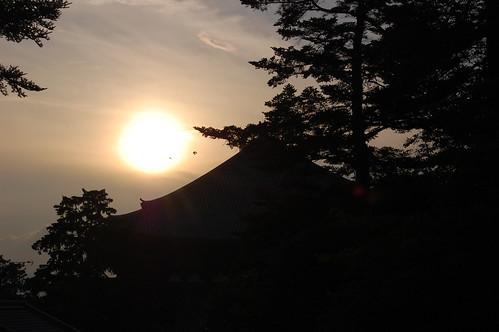 Sunset at Todai-ji
