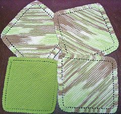 Diagonal Knit Dishcloths