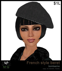[MG fashion] French style beret - bombazine (dollarbie)