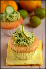 Lime Caramel Cupcake with Cucumber Frosting