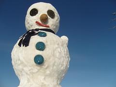 Snowman in Rovaniemi