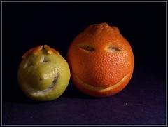 Smiling citrus couple by martinofranchi on Flickr!
