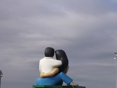 Puerto Montt - statue couple