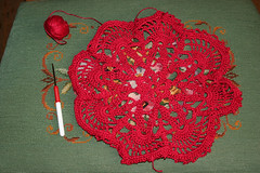 Red doily resized