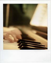 Music *1 (saviorjosh) Tags: music polaroid sx70 hand piano sonar onestep ndfilter 600film