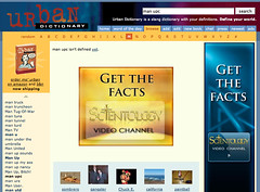 Urban Dictionary.com with Scientology Ads