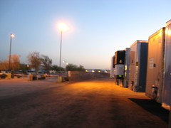 Truck yard sunrise (Phoenix, AZ)