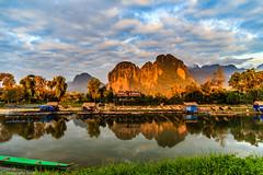 63 Laos, Vientiane Province, Vang Vieng, Nan Xong River