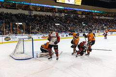 "Missouri Mavericks vs. Quad City Mallards, February 18, 2017, Silverstein Eye Centers Arena, Independence, Missouri.  Photo: John Howe / Howe Creative Photography • <a style=""font-size:0.8em;"" href=""http://www.flickr.com/photos/134016632@N02/32654244820/"" target=""_blank"">View on Flickr</a>"