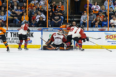 "Missouri Mavericks vs. Quad City Mallards, February 18, 2017, Silverstein Eye Centers Arena, Independence, Missouri.  Photo: John Howe / Howe Creative Photography • <a style=""font-size:0.8em;"" href=""http://www.flickr.com/photos/134016632@N02/32880626322/"" target=""_blank"">View on Flickr</a>"