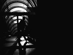 Subway exit (templario4) Tags: huaweip9leica android bw candid city people street subway urban blackandwhite shadows smartphone streetphotography