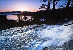 As Sun Rises, Eagle Falls (David Shield Photography) Tags: california sky sun lake color sunrise landscape waterfall laketahoe nationalforest explore emeraldbay eaglefalls easternsierra coth colorphotoaward naturesgreenpeace