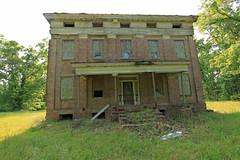 The front (Black.Doll) Tags: brick abandoned alabama plantation antebellum tinroof blackbelt greekrevival 1845 dallascounty elmbluff silentintheland blackbeltofalabama