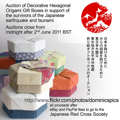Decorative Hexagonal Origami Gift Boxs with Lids by Dominic's pics