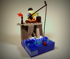 The old man and the sea (Bricks_n_more) Tags: ocean fishing fisherman lego vignette minifigure collectibleminifigure