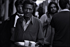 chai (ladyinpink) Tags: life portrait blackandwhite india real tea streetphotography trainstation soul chai coimbatore makingaliving