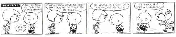 Charlie Brown ribbing Patty
