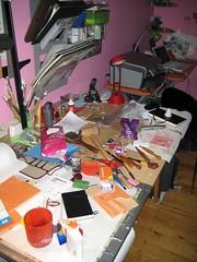 Messy Studio Desk