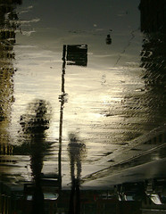 Last exit to Eira ([ Petri ]) Tags: reflection rain sign finland helsinki pavement rainy figure eira thegardenofzen raitsikka1a eitoiooeiraavaanrperiipsil