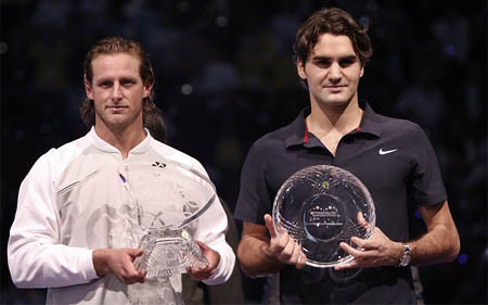 david nalbandian and roger federer, madrid 2007