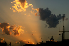 beam me up (miss_kcc) Tags: sunset sky sunlight portugal silhouette clouds paodearcos