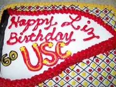 my very USC birthday cake