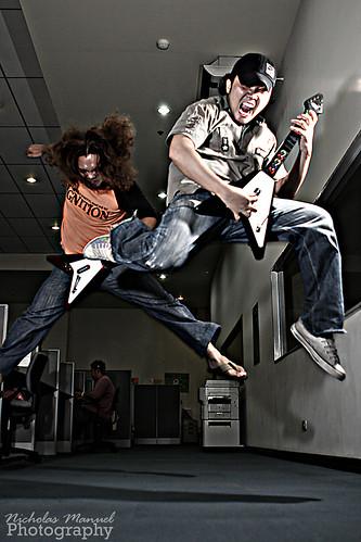 Slash and Lenny Kravitz Guitar hero Characters