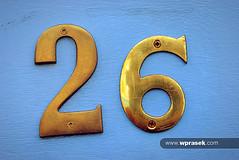 Number 26 blue brass (wprasek) Tags: uk blue england london gold golden 26 number numbers digits brass whitechapel count numerals greaterlondon numbering preciousmetal warrenprasek foliosignsmessages xoodu wprasek wwwxooducom wwwwprasekcom