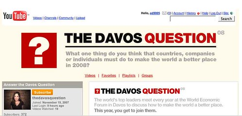 You Tube and Davos