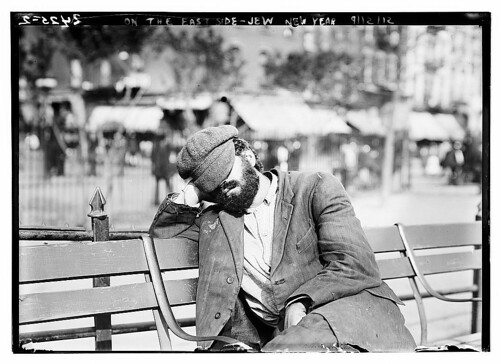 Sleeping person on Jewish New year - Library of Congress